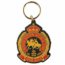 Gold World Cup Black Team GOLD Crest Double Sided Rubber Key Ring Chain GAC-8