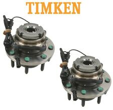 Ford Excursion F-250 4WD Pair Set of Front Wheel Bearings & Hubs Timken SP580205