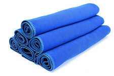 Car SUV Blue Soft Microfiber Absorbent Towel Wipe Dry Cleaner Wash Cloth 30x70cm