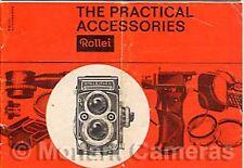 1963 ROLLEIFLEX & rolleicord d'accessoires pratiques brochure plus dépliants énumérés