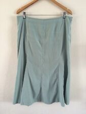 Bon Marche Soft Suede Feel Skirt Size 16 Pale Green  R7579
