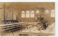 INTERIOR OF HALL, OLDHAM: Lancashire postcard (C3903).