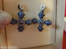QVC  Kirks Folly Purple Passion crystal & cabochon leverback Earrings