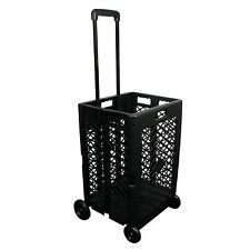 Portable Rolling Shopping Cart Basket Storage Folding Wheel Utility Grocery, NEW