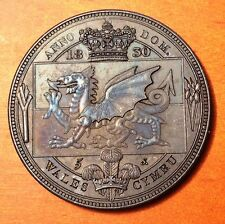 1830 Wales Retro Pattern Proof Crown Bronzed Copper  William IV  Coin