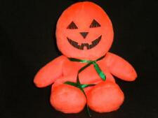 "Halloween Pumpkin Face Bean Bag  8"" Orange Black Plush Stuffed Animal Lovey Toy"