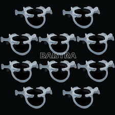 10Pcs New Dental Cheek Retractor C–Shape with handle wings PP White Color Italy