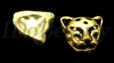 2 METAL ALLOY CAT CHEETAH TIP NAIL ART DECORATION  JEWELRY CHARMS FOR NAILS