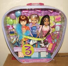 NEW IN PACKAGE WEE 3 FRIENDS MATTEL DOLLS MIRANDA STACIE ALEXA PARTY PARTY PARTY