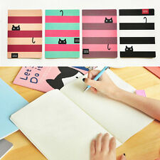 Cute Cat Paper Blank Pages BIG Notebook Note Book Journal Diary Notepad Memo