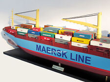"Maersk Alabama Container Ship Model 36"" - Handmade Wooden Cargo Ship Model"