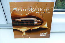 2012 MONTBLANC STAR WALKER RED GOLD  FÜLLER PROSPEKT KATALOG PEN BROCHURE !!!!!!