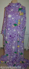 Girls Wrappie TINKERBELL Lavender ONE SIZE FITS MOST Slip Arm In BACK OPEN Robe