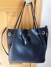 Zara Convertible Tote - Bucket Shape - Black - Large - Drawstring Closure - EUC