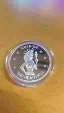 America the Beautiful nude coin -  One Troy Ounce .999 Fine Silver beauty