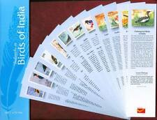 Bookmarks depicting stamps BIRDS OF INDIA theme