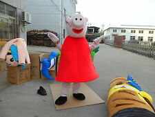 New Pig peppa pink Mascot Costume Fancy Dress Adult Suit Size R108