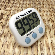 LCD Digital Kitchen Timer Magnetic Cooking Large Count Down Up Clear Loud Alarm