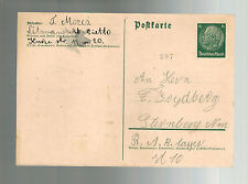 1940's Germany Litzmannstadt Ghetto postcard Cover to RAD Lager J Mores