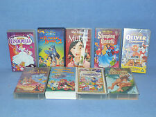DISNEY SELECTION OF VHS VIDEOS 9 IN TOTAL SLEEPING BEAUTY SNOW WHITE