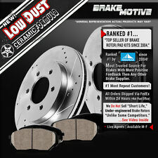 FRONT DRILL SLOT BRAKE ROTORS CERAMIC PADS 2004 2005 2006 - 2008 Colorado Canyon