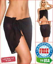 LADIE COQUETA SHEER sarong BEACH COVER UP wrap SEXY BIKINI PAREO SWIMWEAR SKIRT
