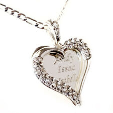 925 Sterling Silver Lovely Hearted Any Personalized Name Necklace Gift
