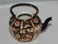 Royal Crown Derby - Imari 6299 Witches - Miniature Teapot - 1911 - missing lid