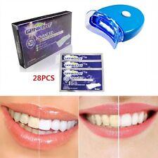 New 28 x Teeth Whitening Strips Genkent Bleaching Tooth Whitener Lamp Beauty UK
