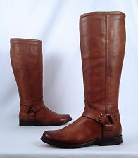 Frye Phillip Harness Boot- Cognac- Size 6 B  (BX5)