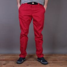 "BNWT DICKIES C 182 MENS ENGLISH RED CHINOS CHINO TROUSERS PANTS 31"" X 34"""