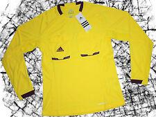 adidas DAMEN Schiedsrichter Trikot Gr. L gelb lila langarm Ref NEU @40