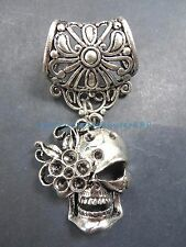 US SELLER-sugar skull slider pendant jewelry scarf necklace