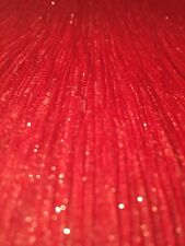 BRAND NEW RED WITH GOLD GLITTER VINYL  LUXURY WALLPAPER ten Metre Roll.
