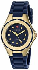 Michele Women's Tahitian Jelly Bean Petite Gold Tone Navy Watch MWW12P000004