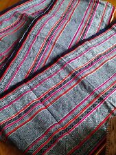 Vintage Style Thai Hmong Tribal Decorative Fabric Traditional Hmong Textile