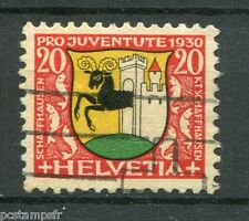 SUISSE SCHWEIZ 1930, timbre 248, ARMOIRIES SCHAFFHOUSE, oblitéré, VF used stamp