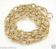 """28"""" Technibond Twisted Anchor Chain Necklace 14K Yellow Gold Clad Silver"""