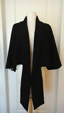 VALENTINO ROMA Cropped Black Jacket~Sz 12/48~ Wool Blend~Made in Italy~ELEGANT~
