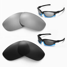 New Walleva Polarized Black + Titanium Lenses For Oakley Split Jacket