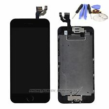 For iPhone 6 4.7'' Black LCD Display Touch Screen Digitizer Camera Home Button
