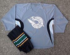 Quad City Mallards Gray Tron Practice Hockey Jersey & Black Game Socks ECHL