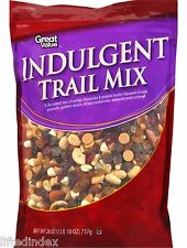 New 1 Bag Great Value 26 oz  INDULGENT TRAIL MIX Chocolate Almonds Cashews
