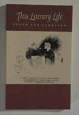 THIS LITERARY LIFE by Peter Van Straaten - pen/ink lampoon cartoons