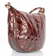 Collectible VTG AUTH CHRISTIAN DIOR shoulder bag in Genuine Crocodile leather ,
