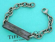 Authentic Tiffany & Co Silver Titanium 1837 Silver Bracelet Rare 8 Inches