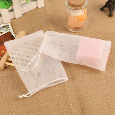 100pcs Soap Net Bubble Maker Saver Bag Sack Pouch Holder Mesh Bags Nets