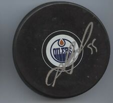 MARK LETESTU SIGNED EDMONTON OILERS HOCKEY PUCK w/ COA