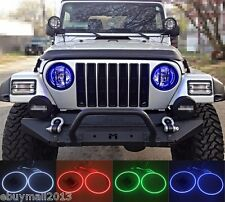 RGB Halo Rings For Cherokee 2002-2007 Multi-Color LED Demon Devil Angel Eyes DRL