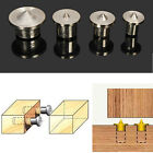 4x Dowel Joint Alignment Tool Tenon Centre Point Pin Set 6 8 10 12mm Dowel Holes